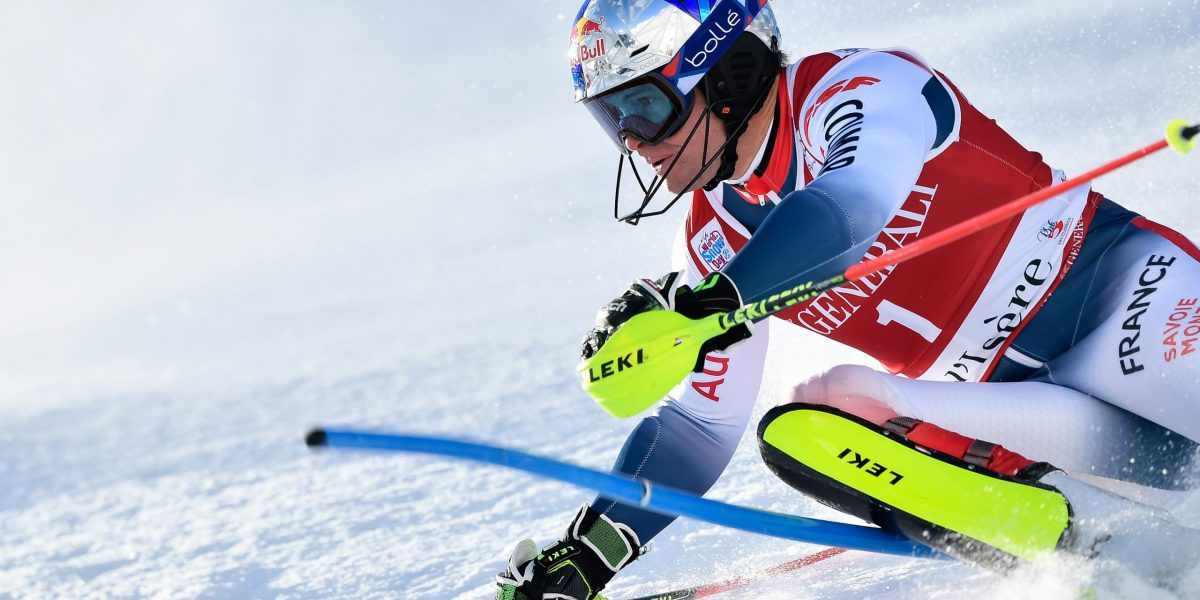VAL D'ISERE, FRANCE - DECEMBER 15: Alexis Pinturault of France competes during the Audi FIS Alpine Ski World Cup Men's Slalom on December 15, 2019 in Val d'Isere France. (Photo by Alain Grosclaude/Agence Zoom)
